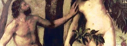 забранения плод - ябълката е непозволен секс на Адам и Ева с Архангела (Змята) в Библейската история